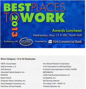 LEAN Frog Nominated Best Places to Work 2013 Contender