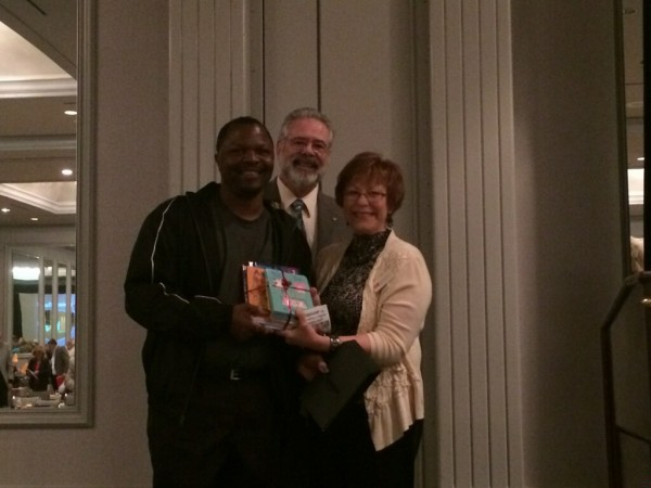 Mr. Verrazano Davis, BOE Member of Midfield City Schools (Left), David Knowles of LEAN Frog (Center), and Polly McClure, Statewide Coordinator for Reach Out and Read Alabama (Right)