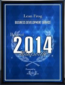 2014 Huntsville Best Award Winner LEAN Frog