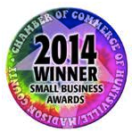 2014 Huntsville/Madison County Chamber of Commerce Small Business of the Year!