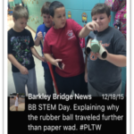 Students learn with and from one another during Virtual STEM day at Barkley Bridge.